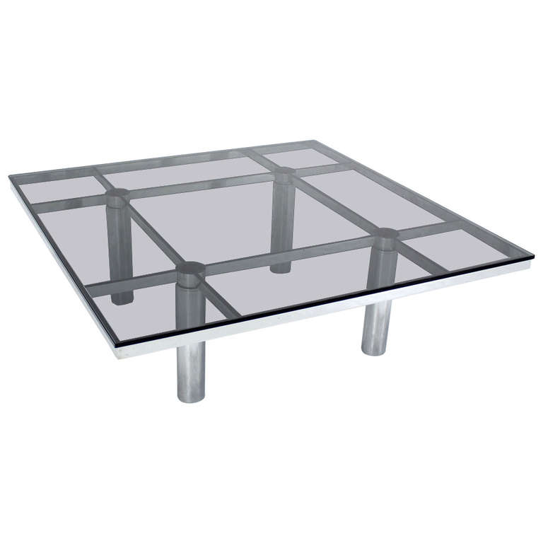 Chrome Coffee Table Knoll By Afra Tobia Scarpa Florida Regency