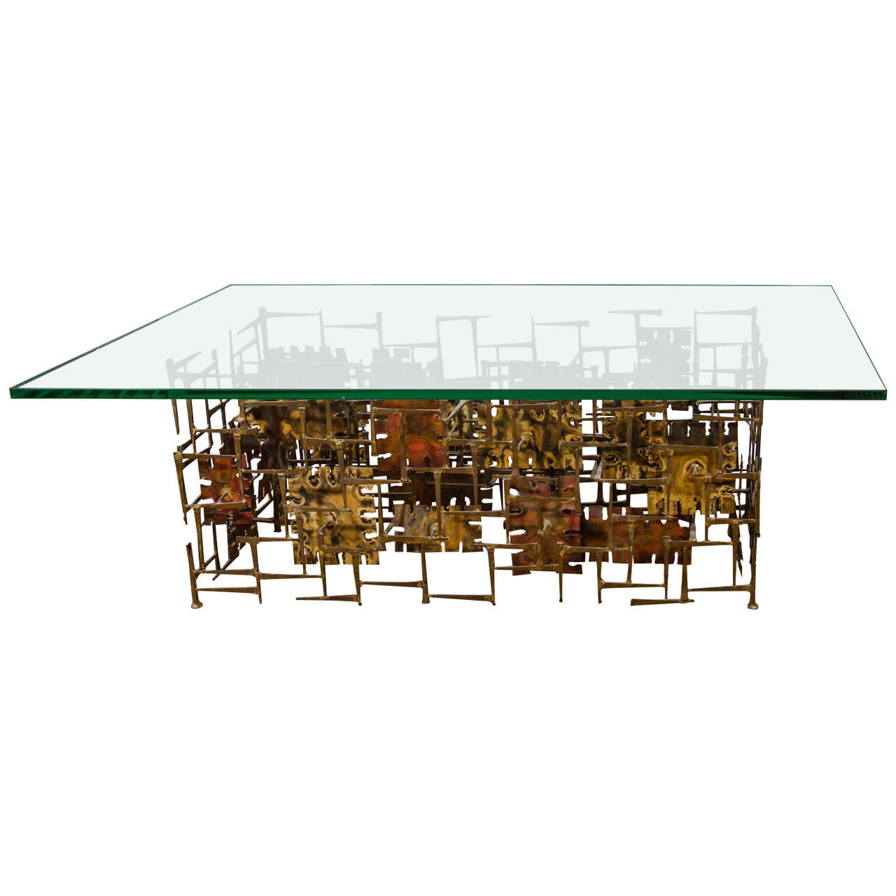 Lattice Coffee Cocktail Table Palm Beach Florida Regency