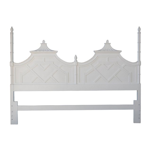 King Size Thomasville Pagoda Headboard Florida Regency
