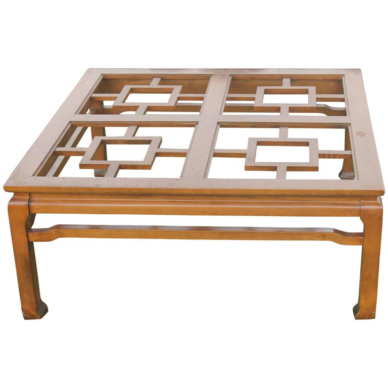 Fretwork Coffee Table.Fret Coffee Cocktail Table Ming Vintage Lacquered In Color Of Your Choice