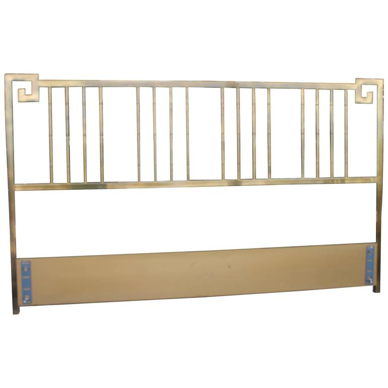 Mastercraft Greek Key Brass Vintage King Size Headboard